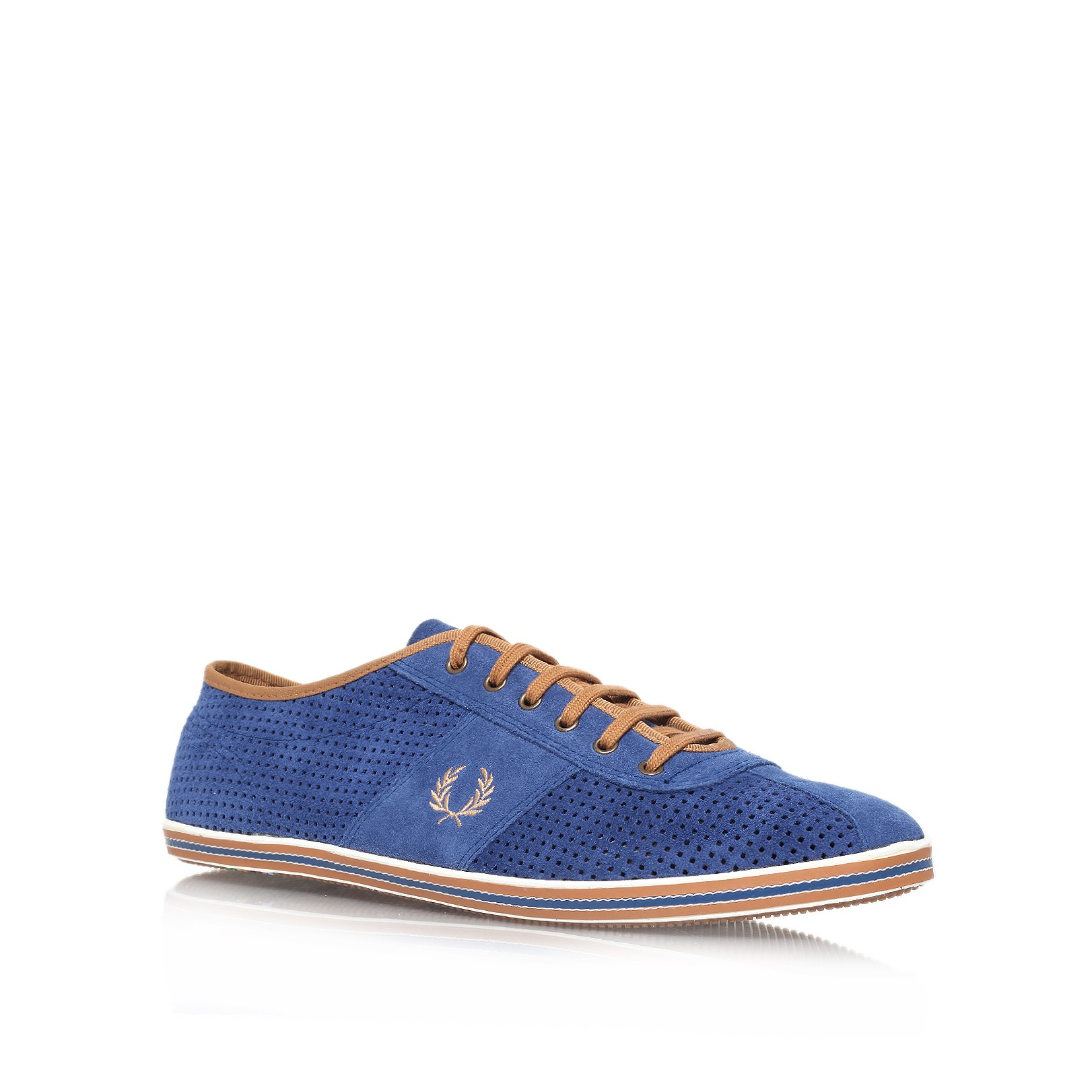 fred perry bw hayes sneaker in blue for men navy lyst. Black Bedroom Furniture Sets. Home Design Ideas