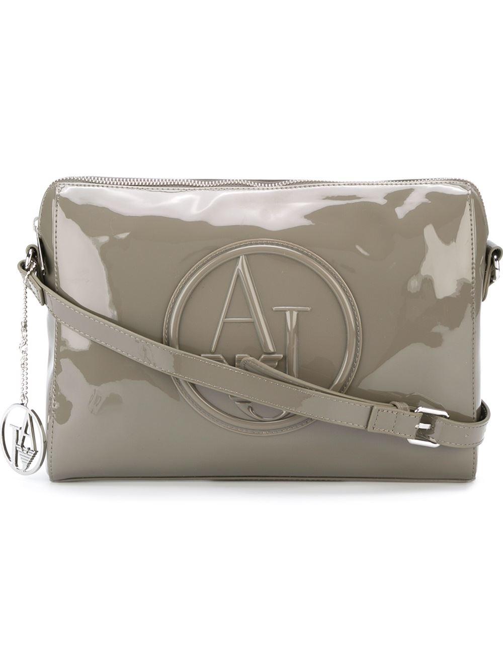 a4799b2c8c1f Armani Jeans Embossed Logo Cross Body Bag in Brown - Lyst