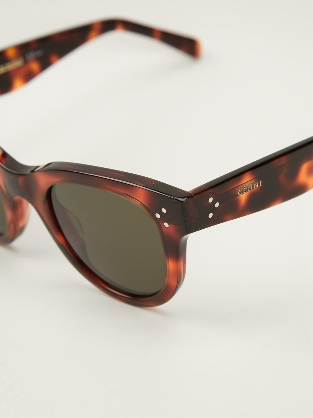 8316cabf6 Céline Baby Audrey Sunglasses in Brown - Lyst