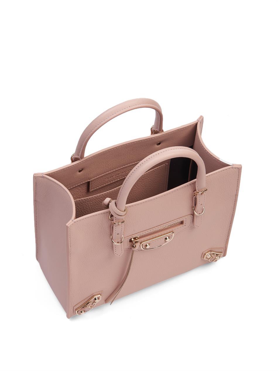 0e587eca336 Balenciaga Mini Papier A4 Leather Cross-Body Bag in Pink - Lyst