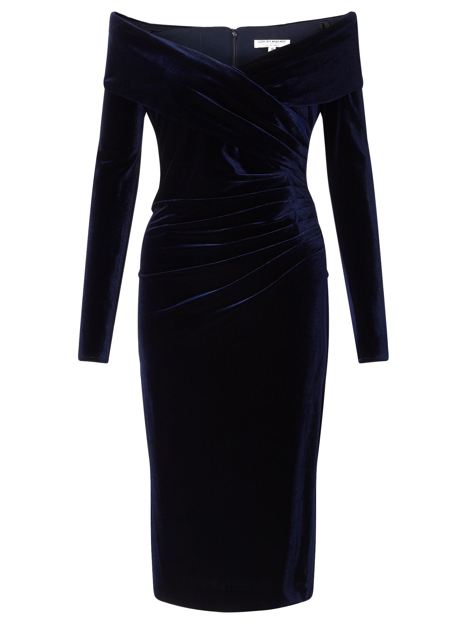 Jacques Vert Velvet Bardot Cocktail Dress In Black Lyst