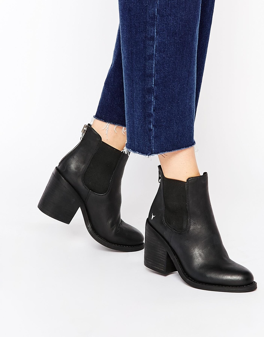 Womens Player Ankle Boots, Black Windsor Smith