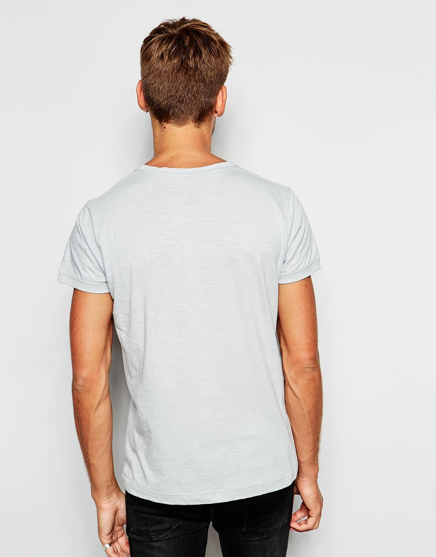 pepe jeans golders logo t shirt in gray for men lyst. Black Bedroom Furniture Sets. Home Design Ideas