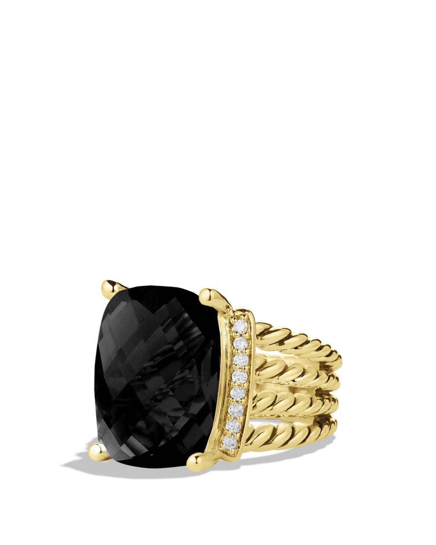 David Yurman Wheaton Ring With Black Onyx Amp Diamonds In