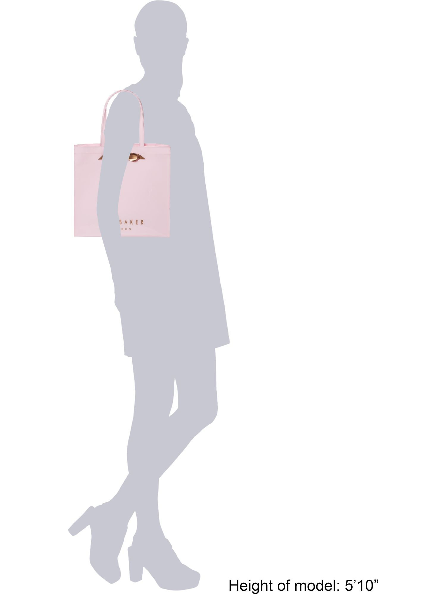 Ted Baker Pale Pink Large Bowcon Tote Bag