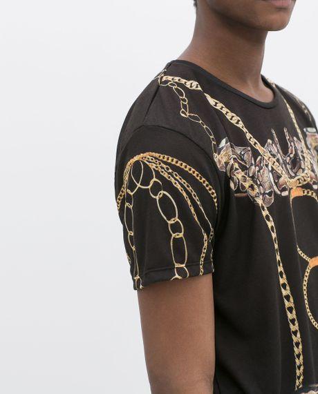 Snake Print Shirt Zara Zara Snake Print T-shirt
