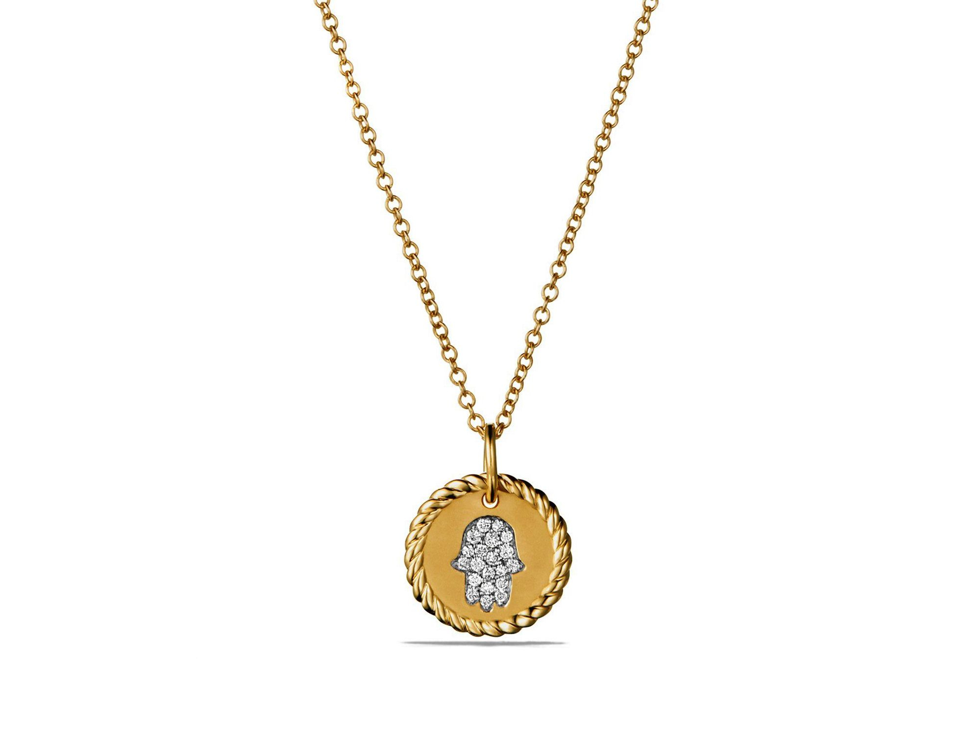 david yurman 18k yellow gold k initial pendant