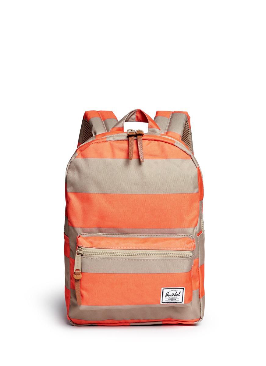 Herschel Supply Co. 'settlement' Contrast Stripe Kids Backpack in Orange