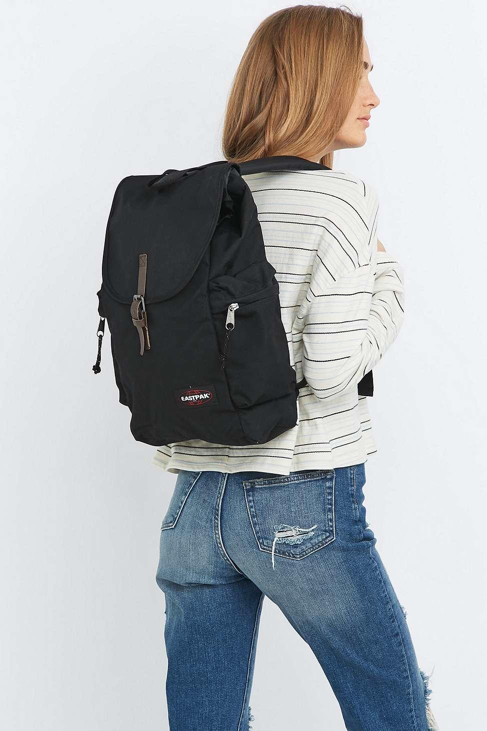 eastpak austin black backpack in black