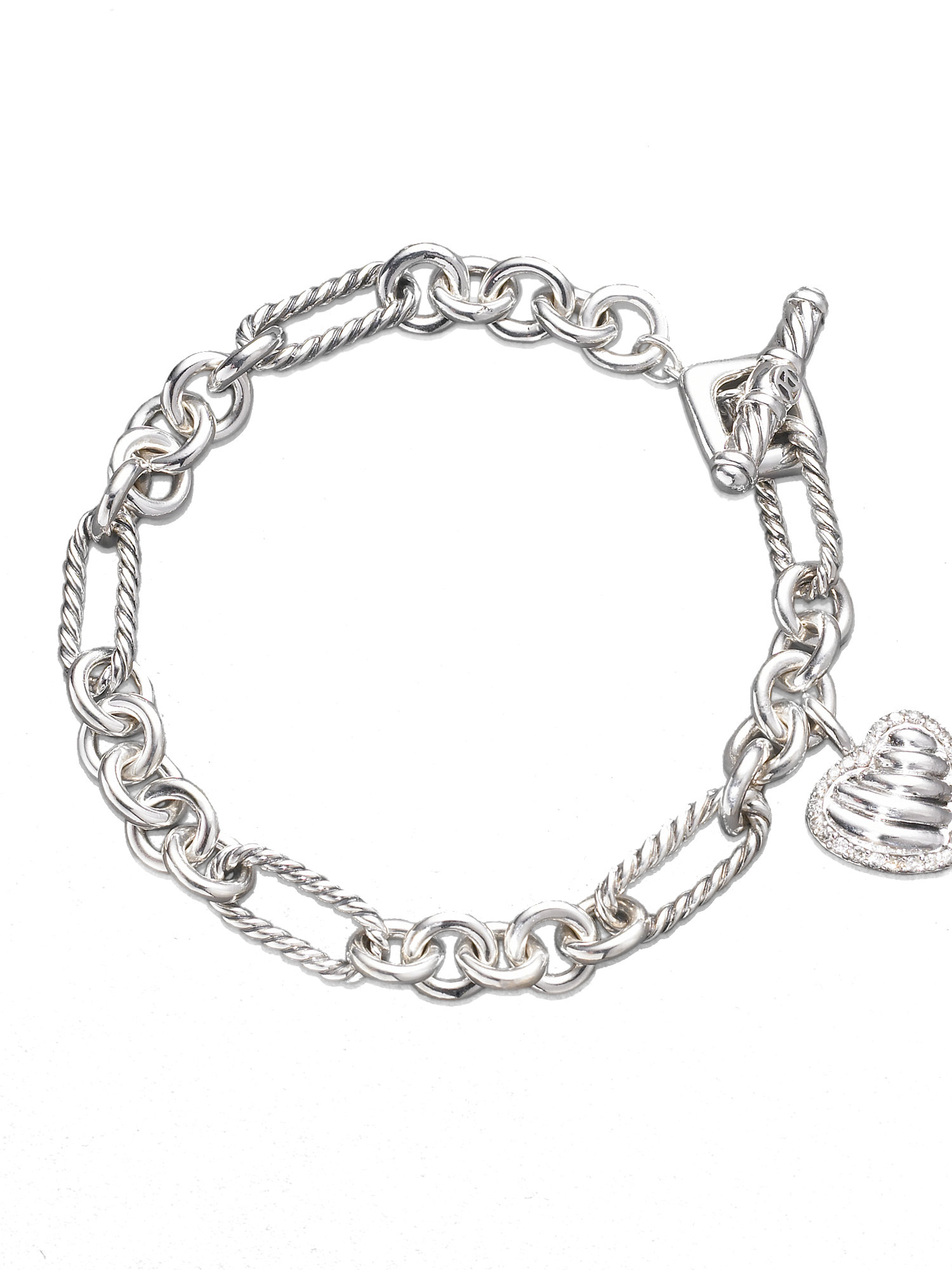 david yurman charm bracelet david yurman cable charm bracelet with diamonds in 8114