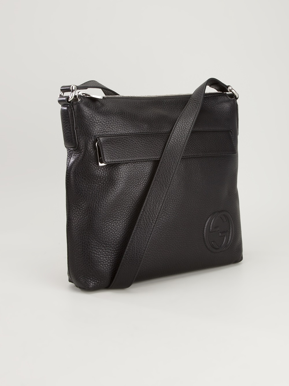 gucci small square shoulder bag in black for men