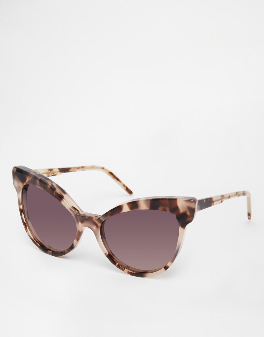 6addfdc7799ff Wildfox Grand Dame Cat Eye Sunglasses in Brown - Lyst