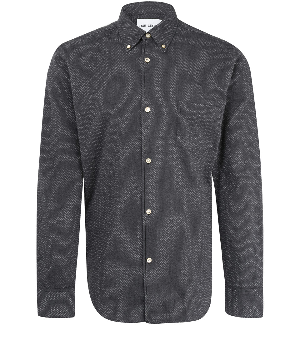 Our legacy Fog Rain Grey Buttondown Shirt in Gray for Men | Lyst