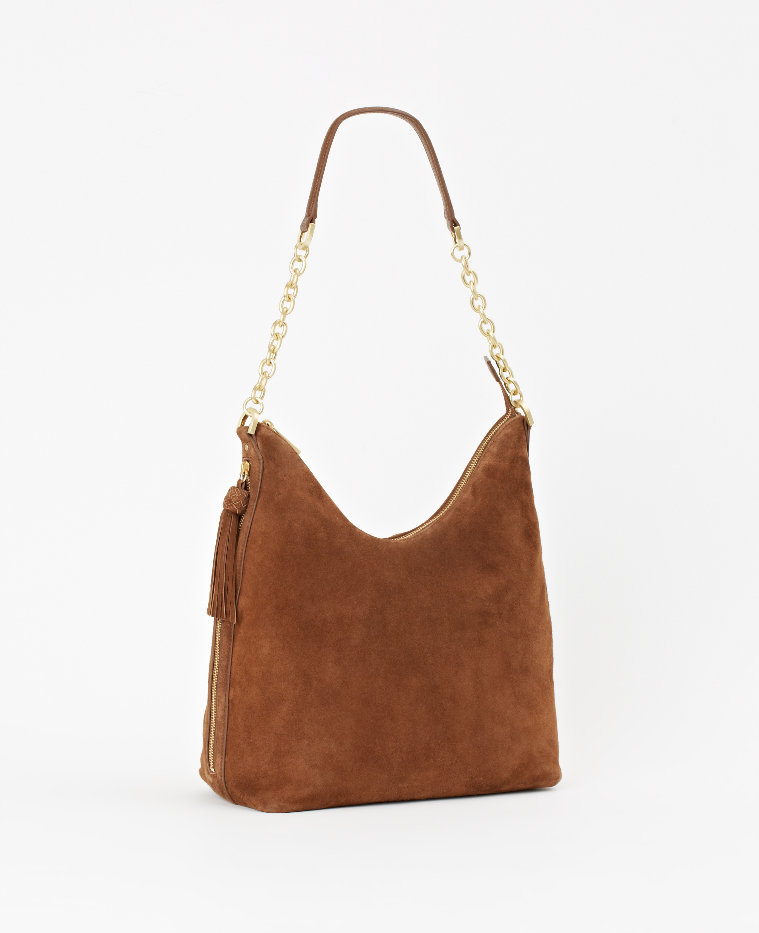 Ann taylor Essex Suede Hobo Bag in Brown | Lyst