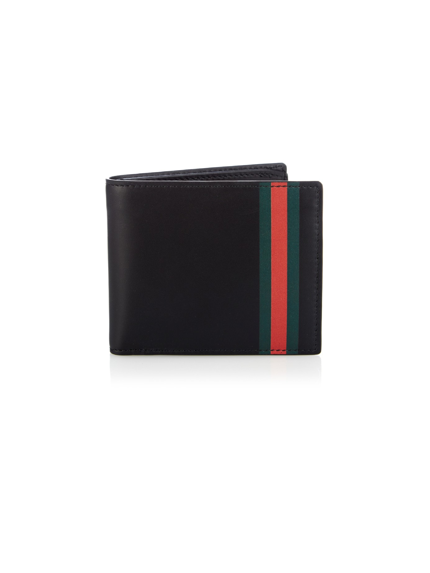 16012c84f05 Lyst - Gucci Web Stripe Leather Wallet in Black for Men