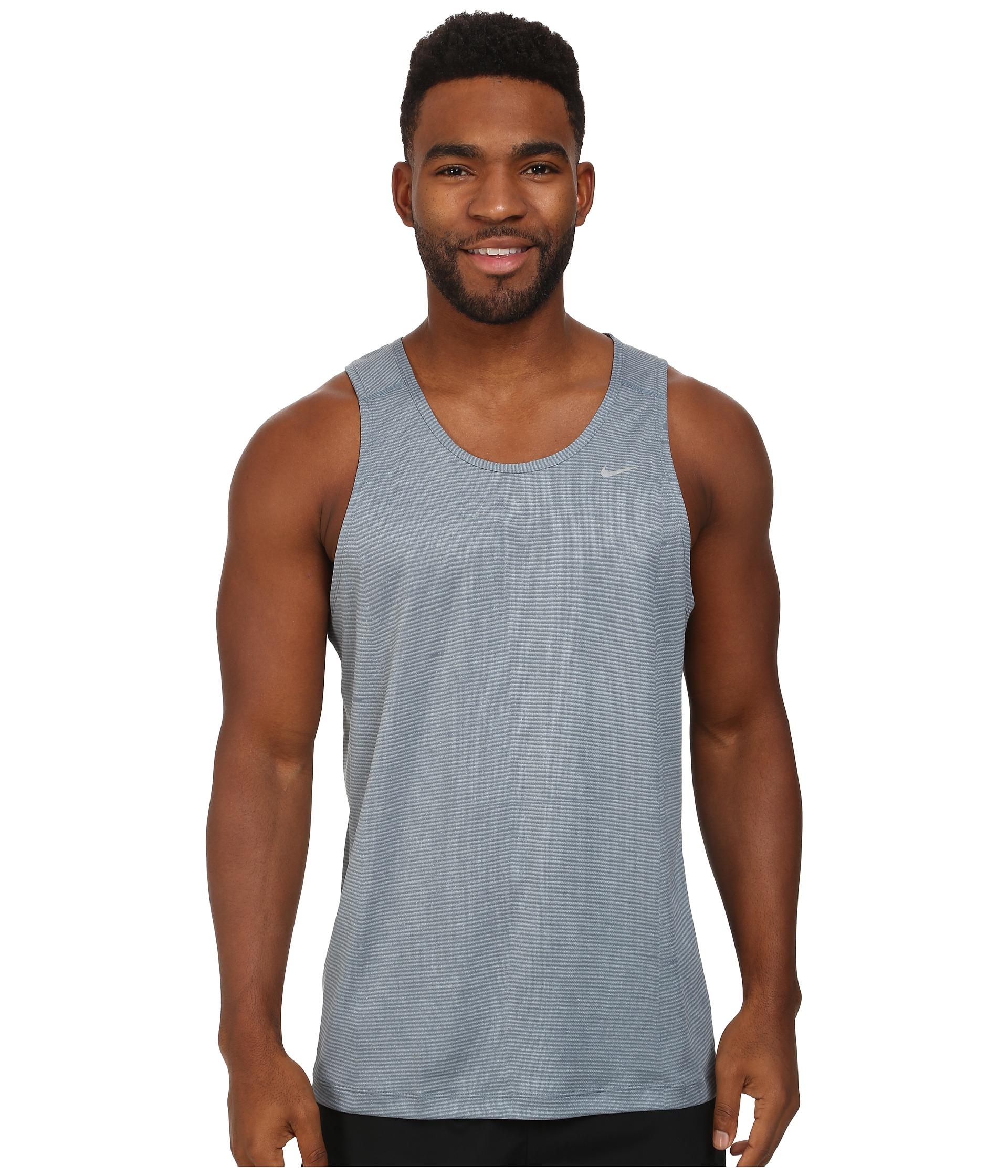 2eacffd20b5ca Lyst - Nike Printed Miler Singlet in Gray for Men