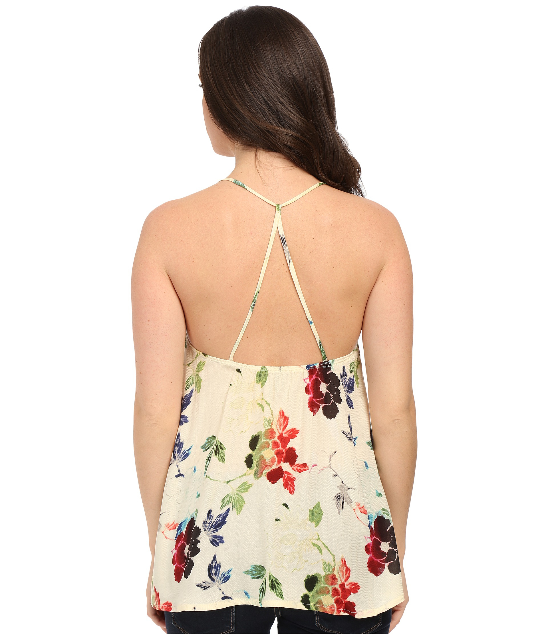 7702004b7a277 Lyst - Stetson Textured Floral Print Rayon Tank Top in White