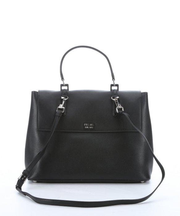 prada purse knockoffs - Prada Black Leather Buckle Accent Convertible Top Handle Bag in ...