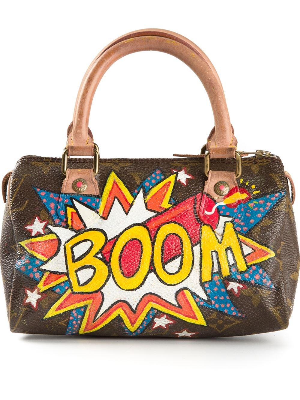 65f746b465c723 Louis Vuitton Mini 'Boom' Print Bowling Bag in Brown - Lyst