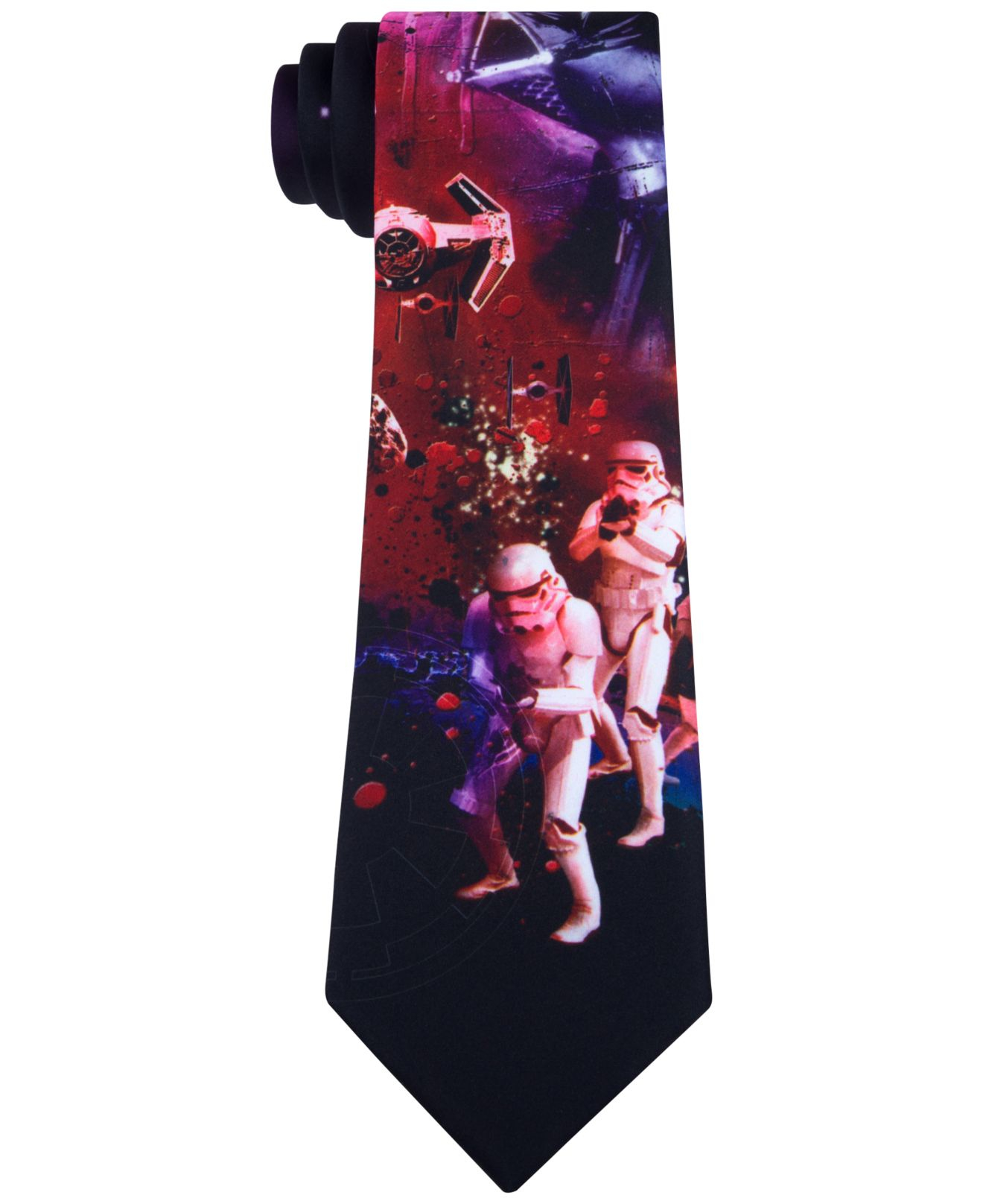 Lyst - Star Wars Death Star Attack Tie in Purple for Men