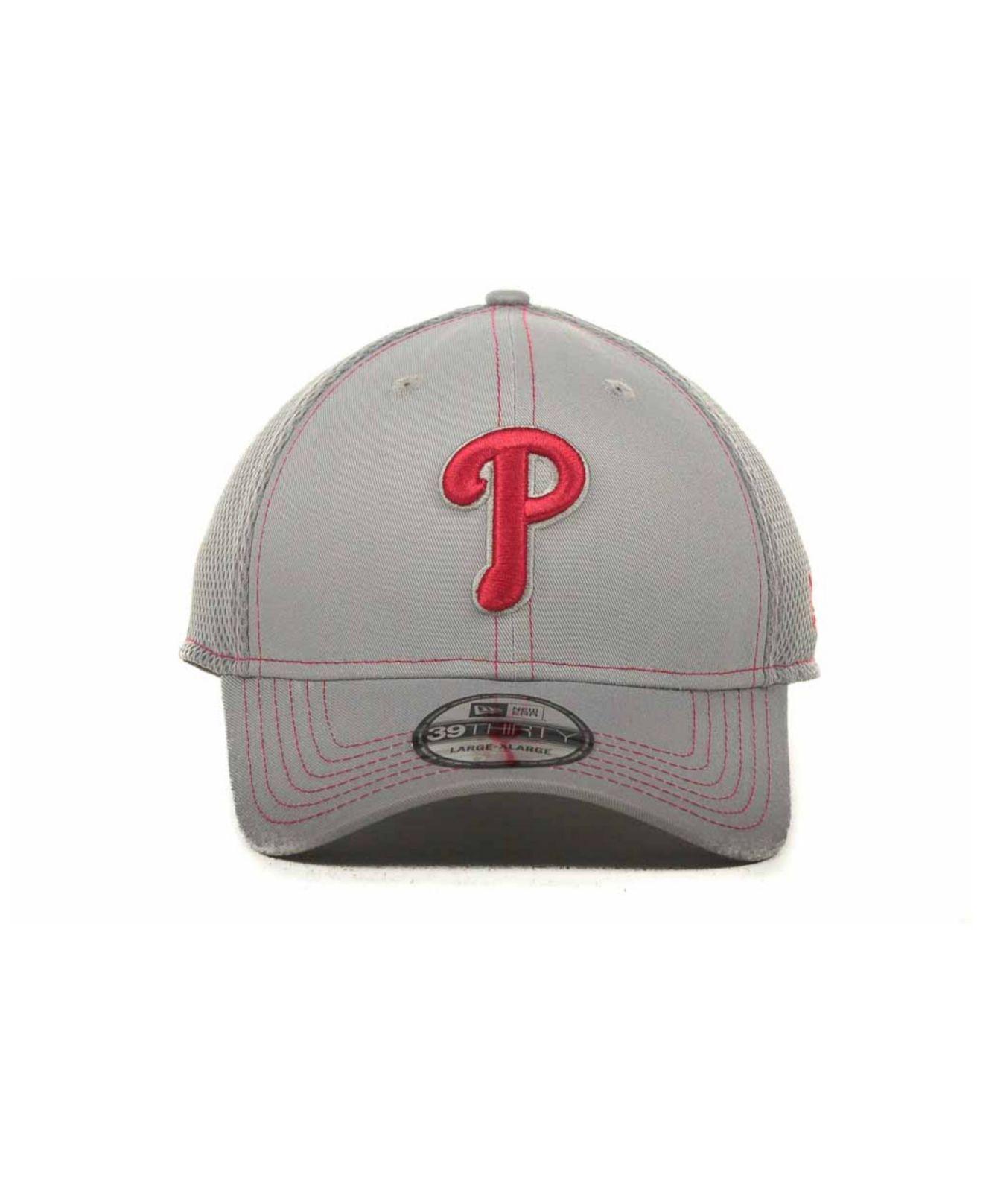 reputable site ee1bb 9b8c9 KTZ Philadelphia Phillies Gray Neo 39thirty Cap in Gray for Men - Lyst
