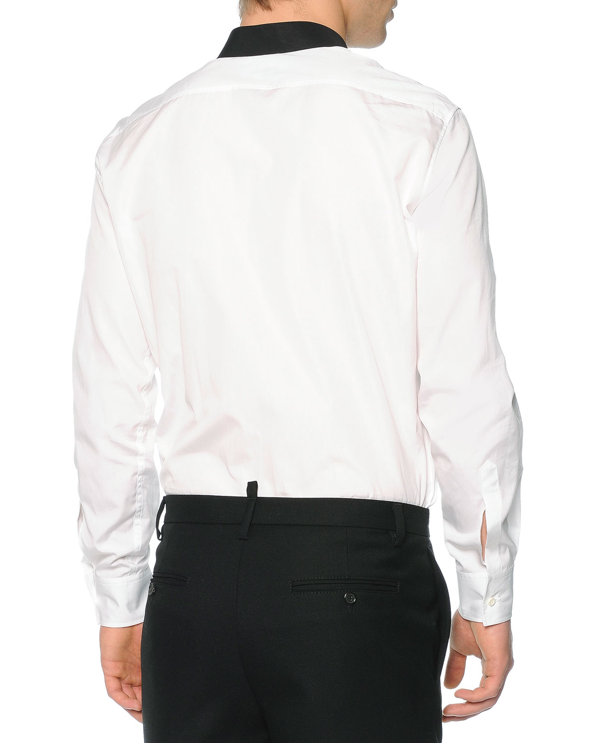 Lyst Dsquared Button Down Shirt With Contrast Bib In