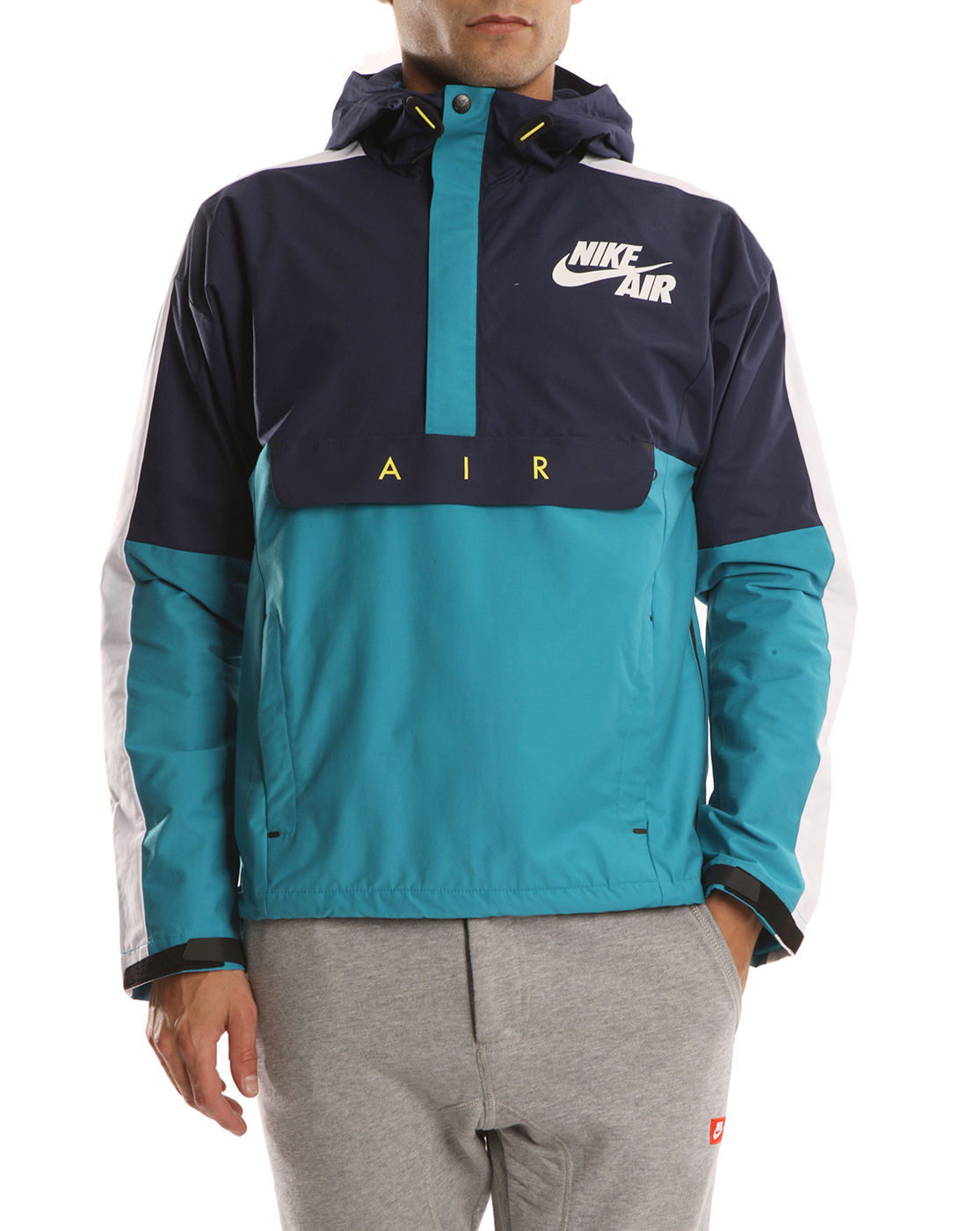 Nike Turquoise Navy and White Windbreaker Jacket in Blue ...