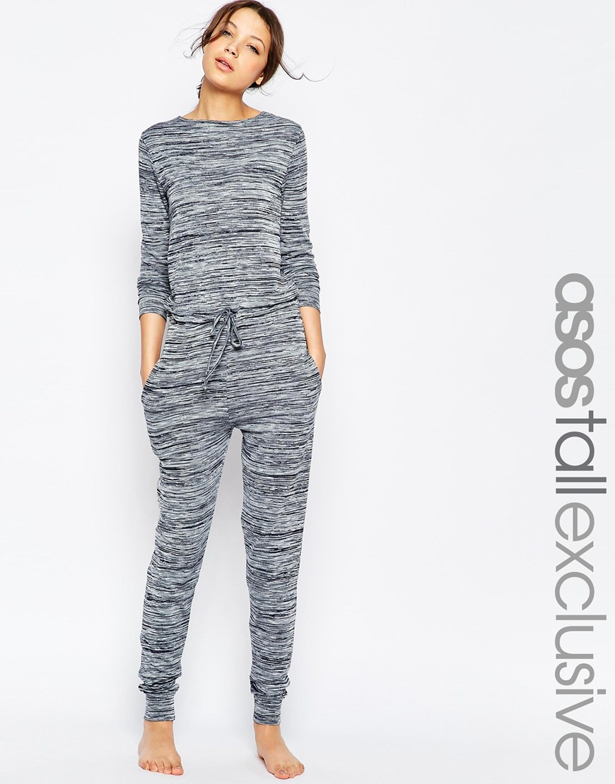 dd8f3c3a96cd ASOS Tall Lounge Jumpsuit In Marl in Gray - Lyst