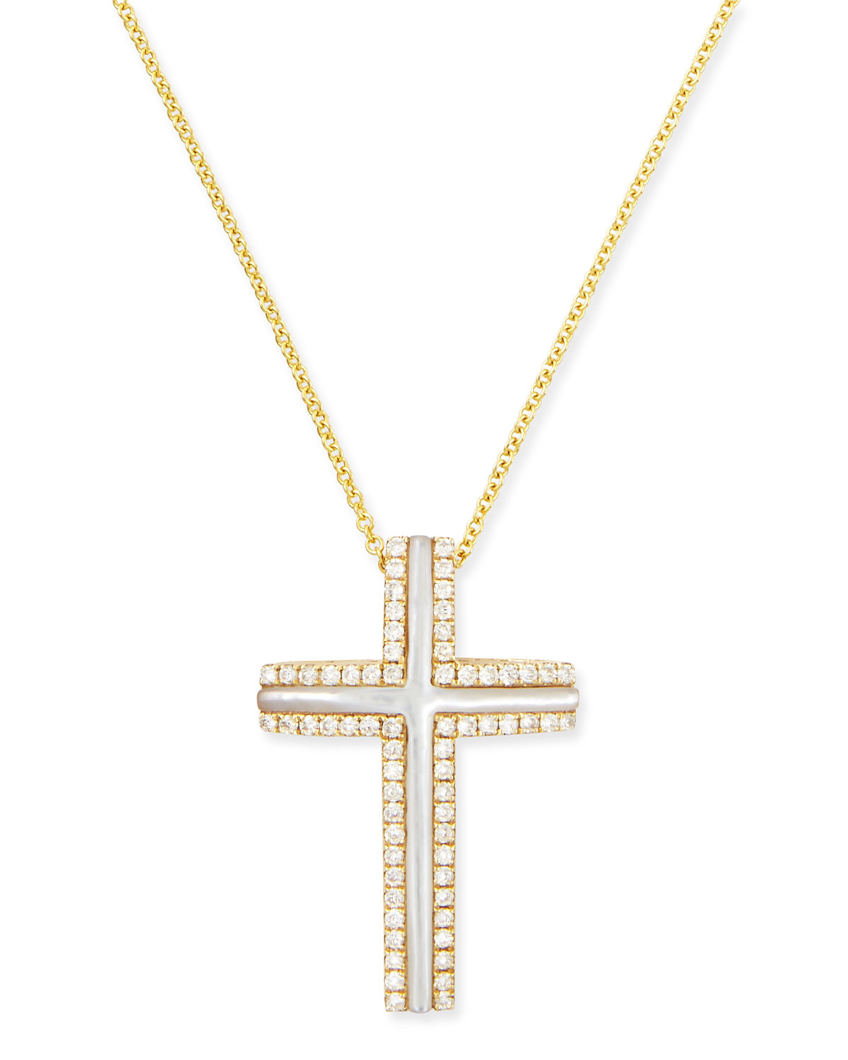 77c25c9b2e7 Large Gold Cross Necklace - Necklace Wallpaper Gallerychitrak.Org