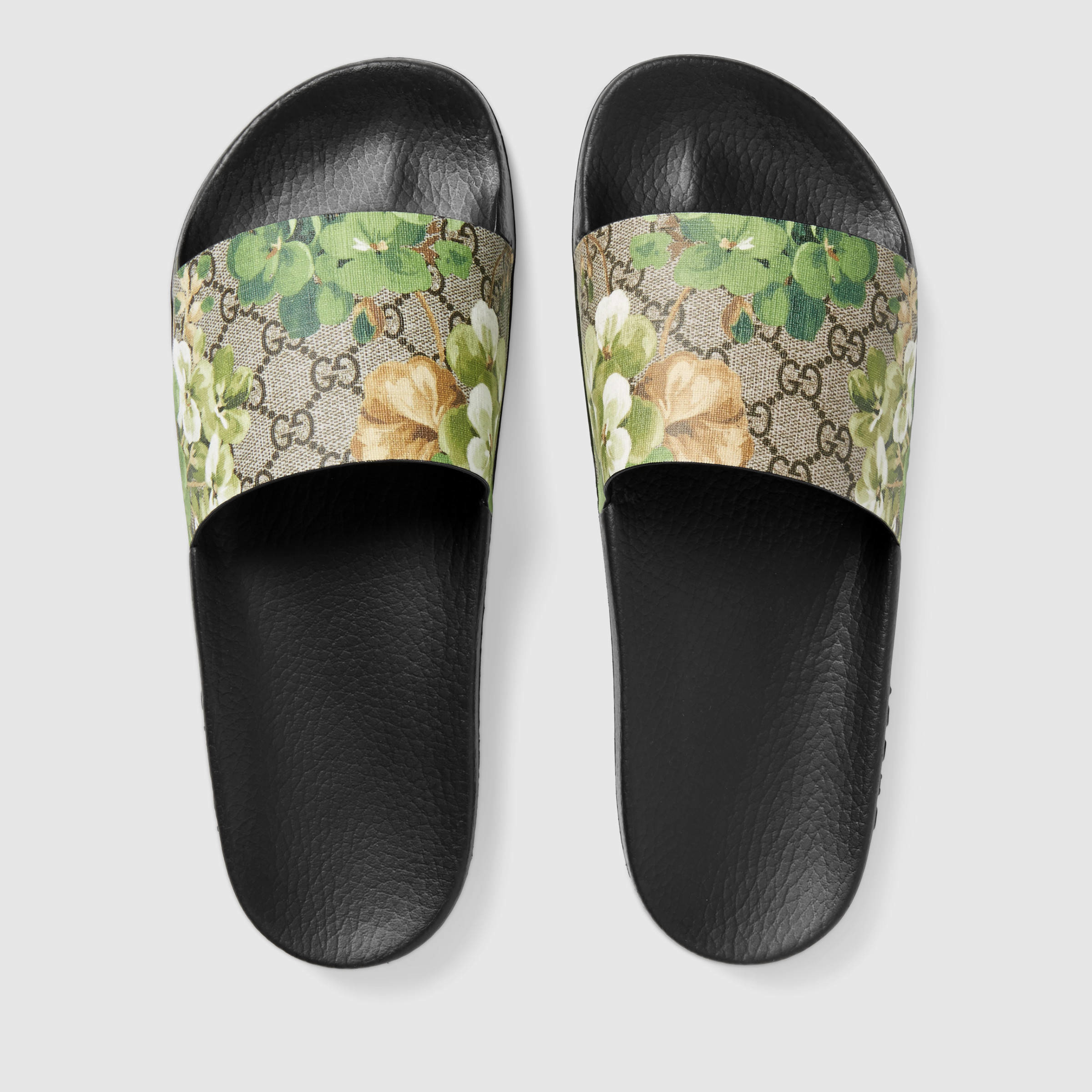 Gucci Canvas Blooms Print Sandal - Lyst