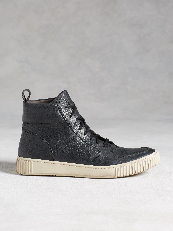 John Varvatos Leather Bedford High Top