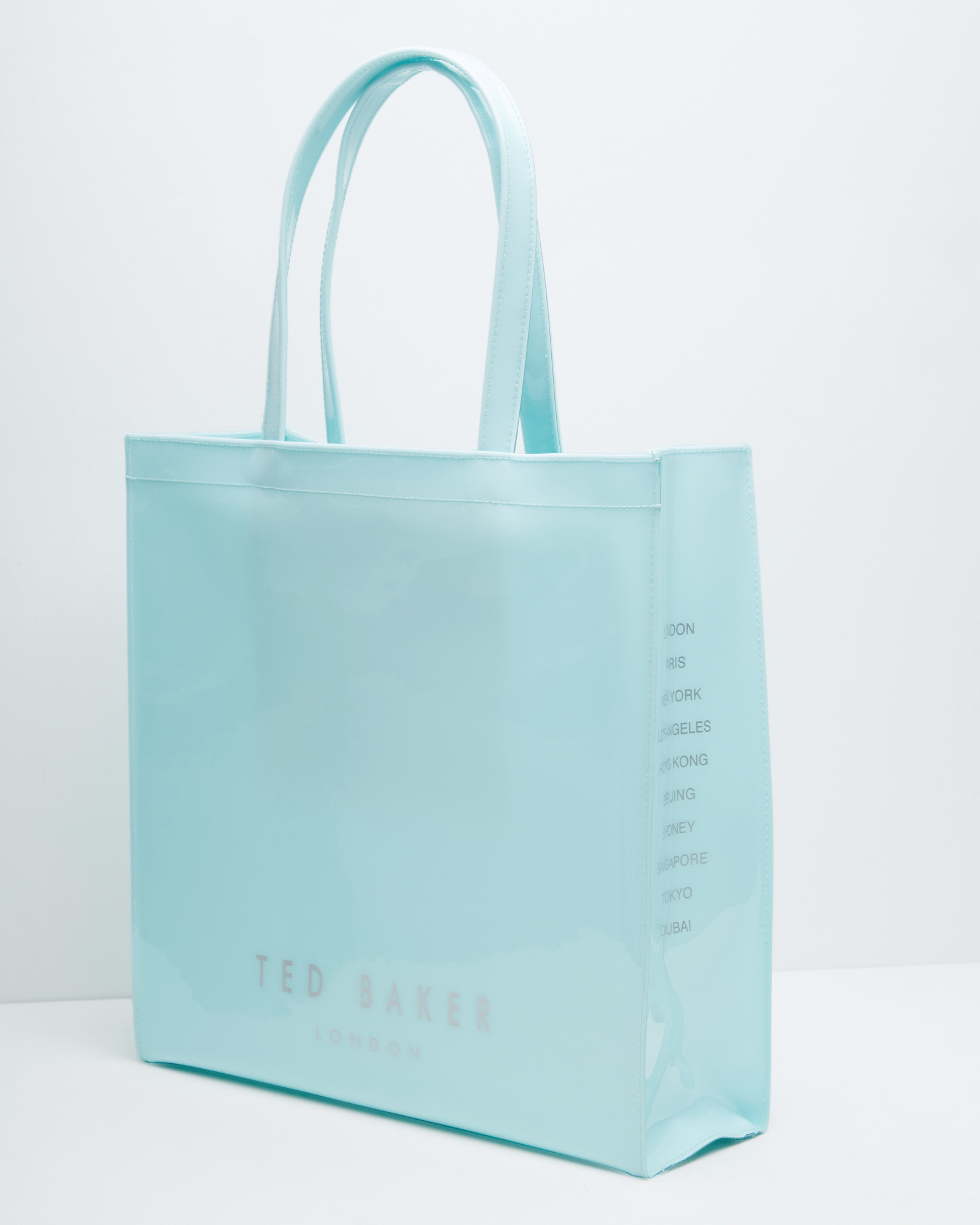 ted baker bow detail large shopper bag in green mint lyst. Black Bedroom Furniture Sets. Home Design Ideas