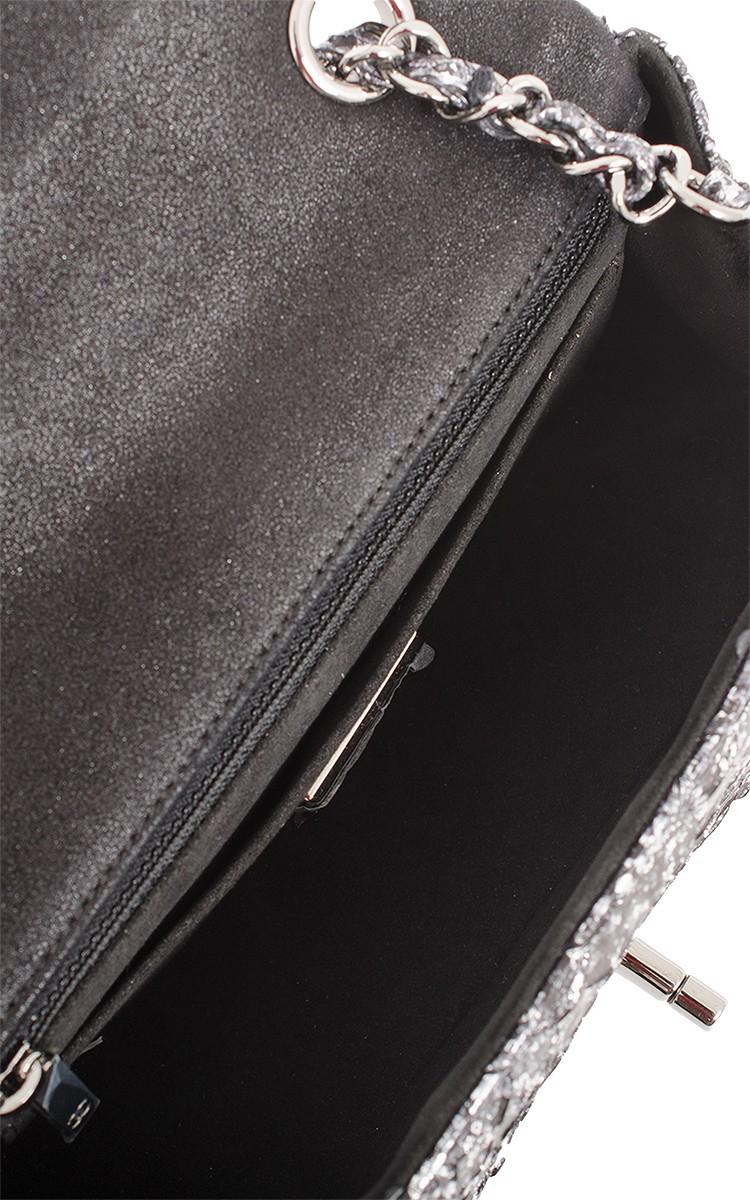 5833a9099cdf Madison Avenue Couture Chanel Silver Python Mini Classic 2.55 Flap ...