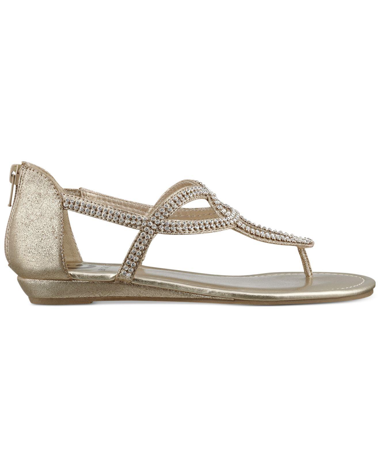 0a4b5c861 Lyst - G by Guess Women S Jamila Rhinestone Flat Thong Sandals in ...
