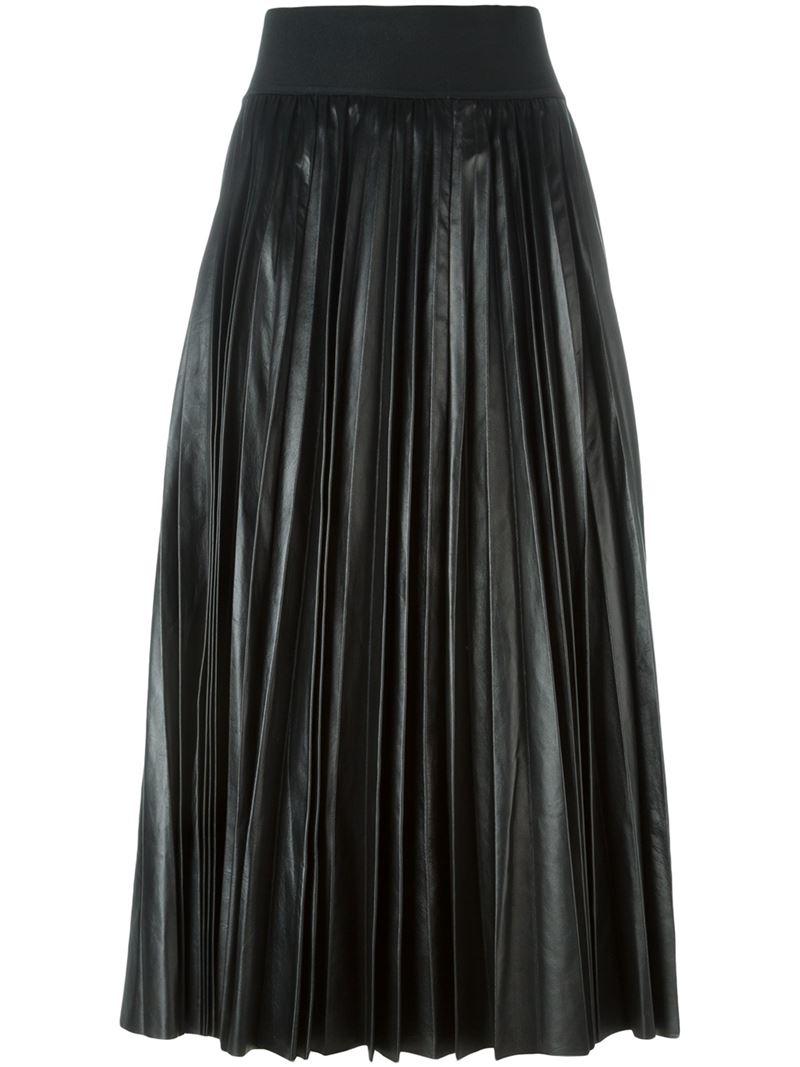 marni pleated skirt in black lyst