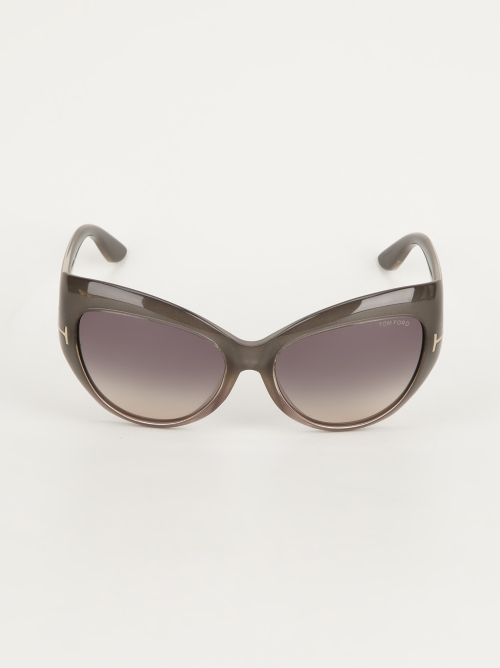 Tom Ford Cat Sunglasses In Gray Lyst