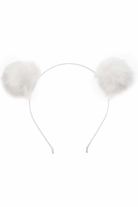 6d6b1a064ea TOPSHOP White Pom-pom Ears Headband By Orelia in White - Lyst