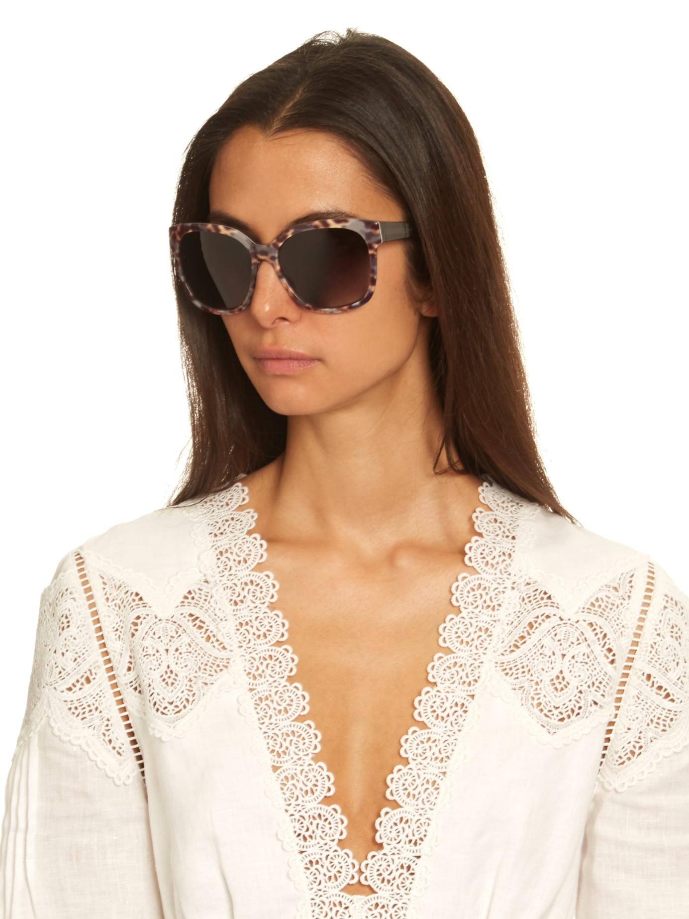 lyst diane von furstenberg julianna sunglasses in black. Black Bedroom Furniture Sets. Home Design Ideas