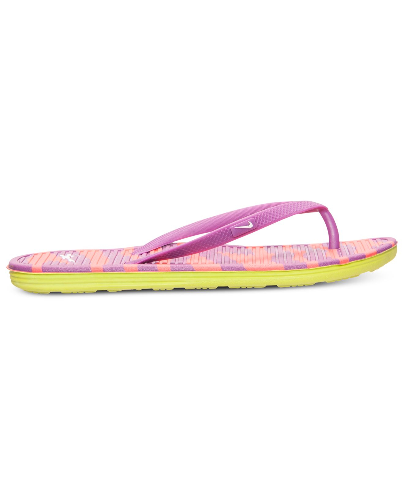 a28dc53c01a2d7 Lyst - Nike Women s Solarsoft Thong Ii Print Sandals From Finish ...