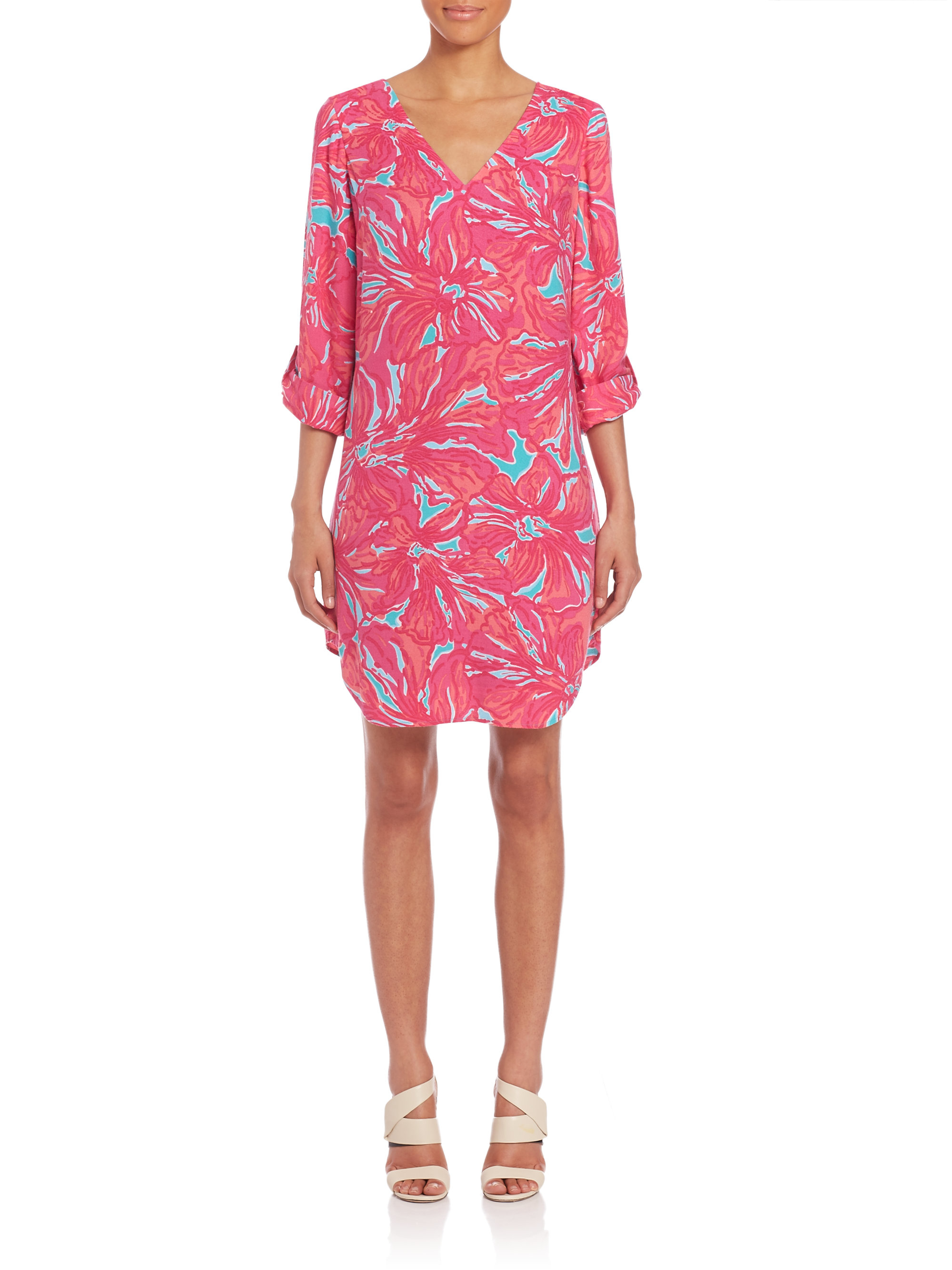 Lilly pulitzer Arielle Tunic Dress in Pink | Lyst