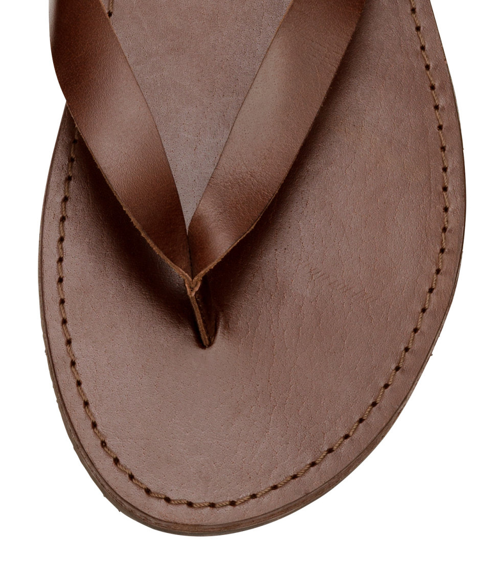 Lyst - Hm Leather Flip-Flops In Brown For Men-1787