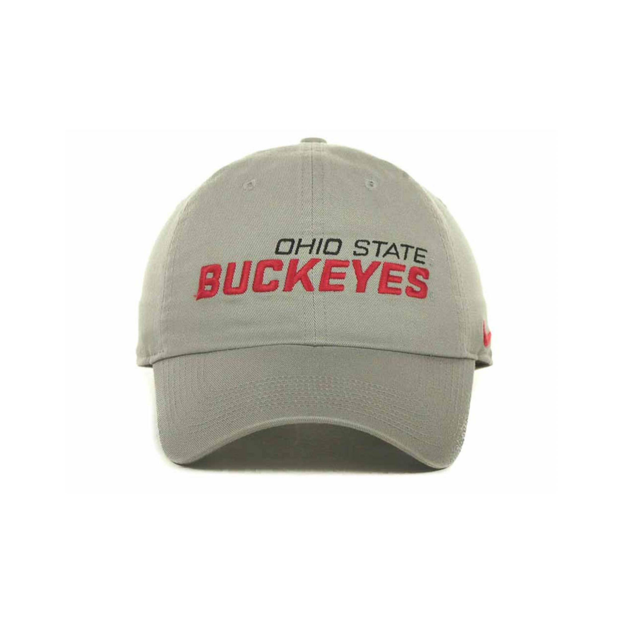 buy popular 4acaf ee005 ... greece lyst nike ohio state buckeyes heritage 86 campus cap in gray for  men 77b46 388c7