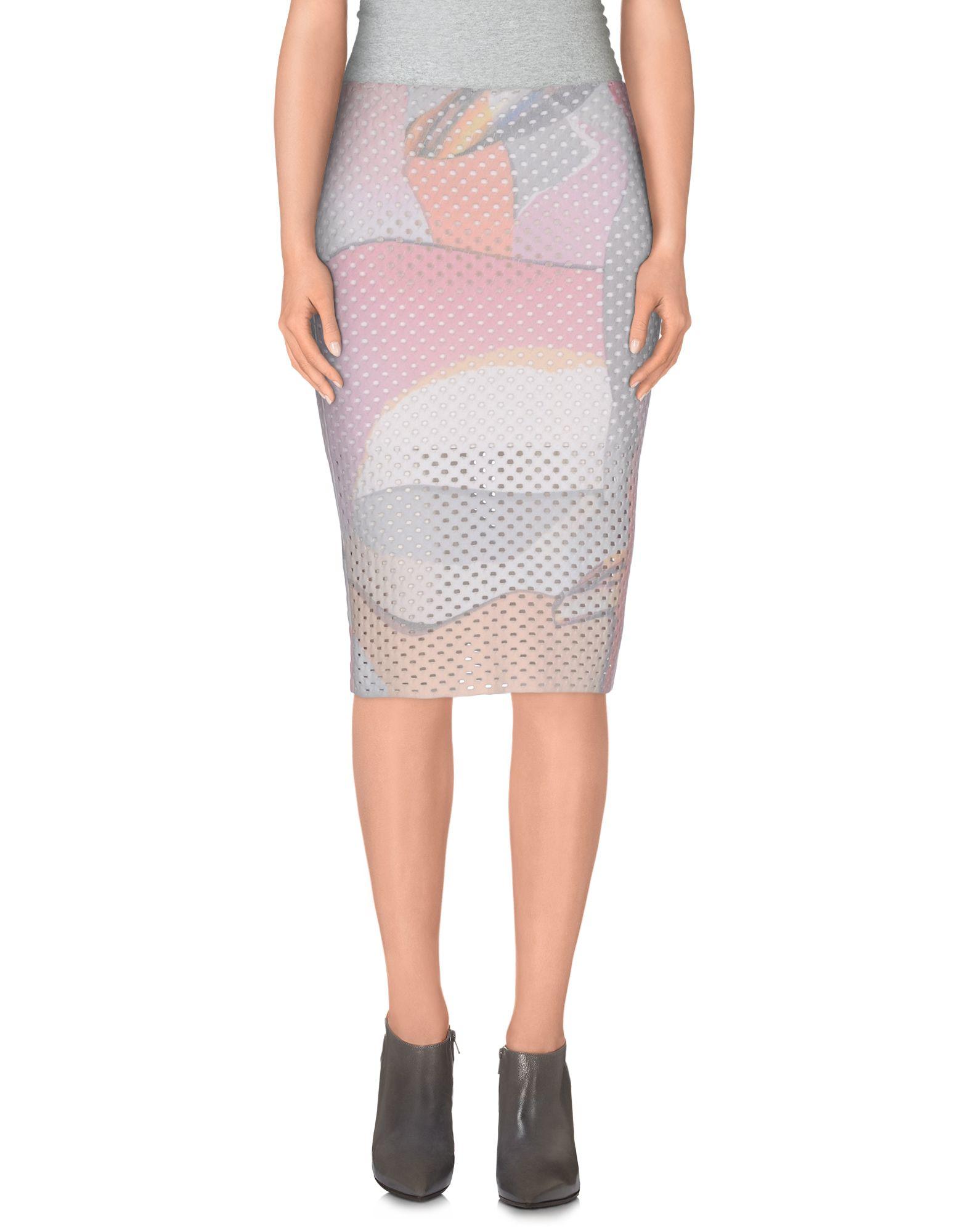kenzo knee length skirt in white lyst