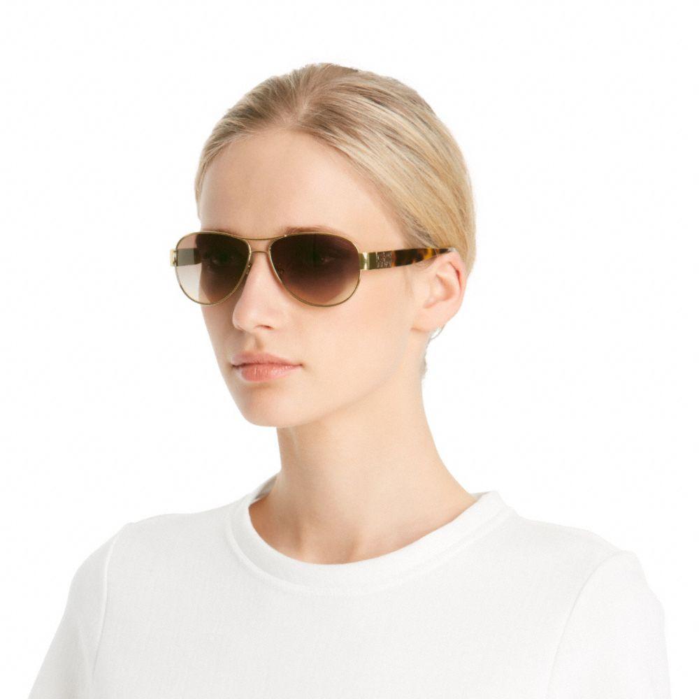 1d9a3777b04f COACH Charity Sunglasses in Metallic - Lyst