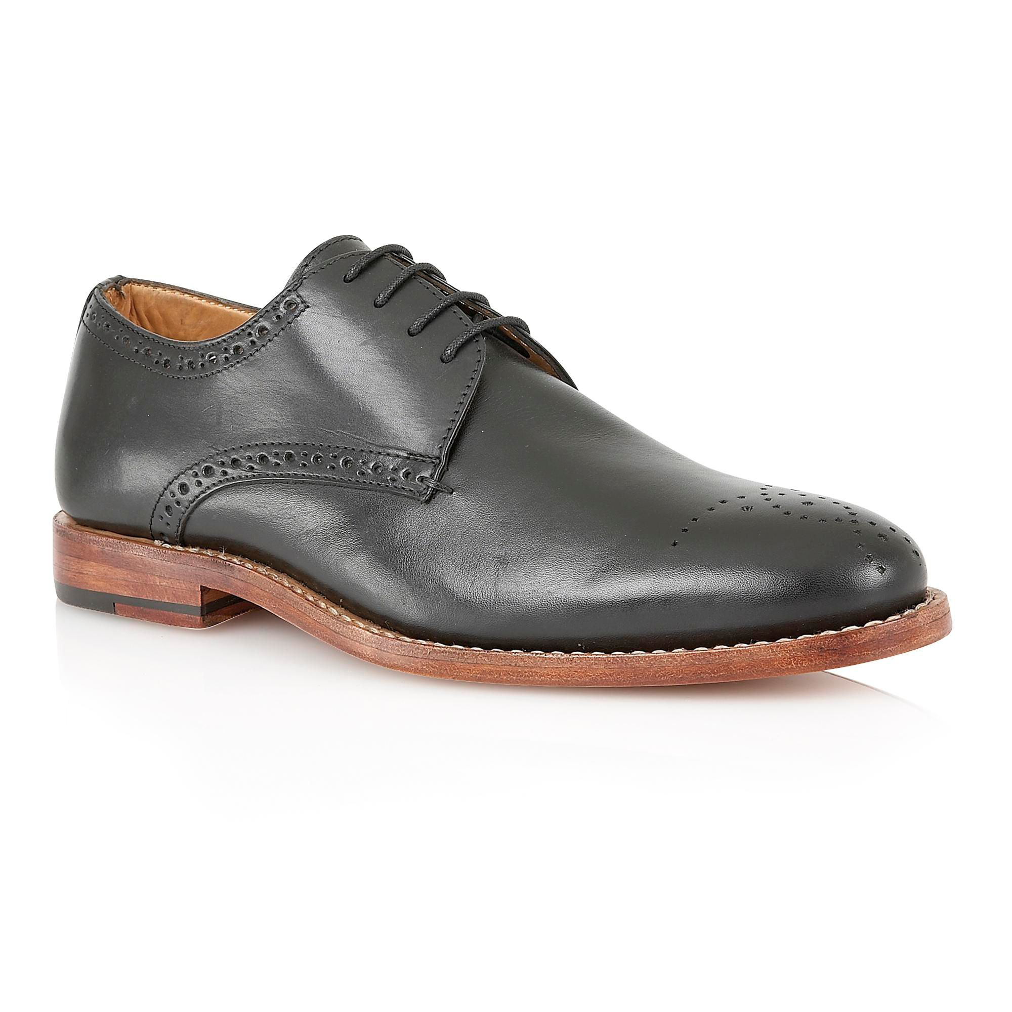 lotus jeremiah lace up formal oxford shoes in black for