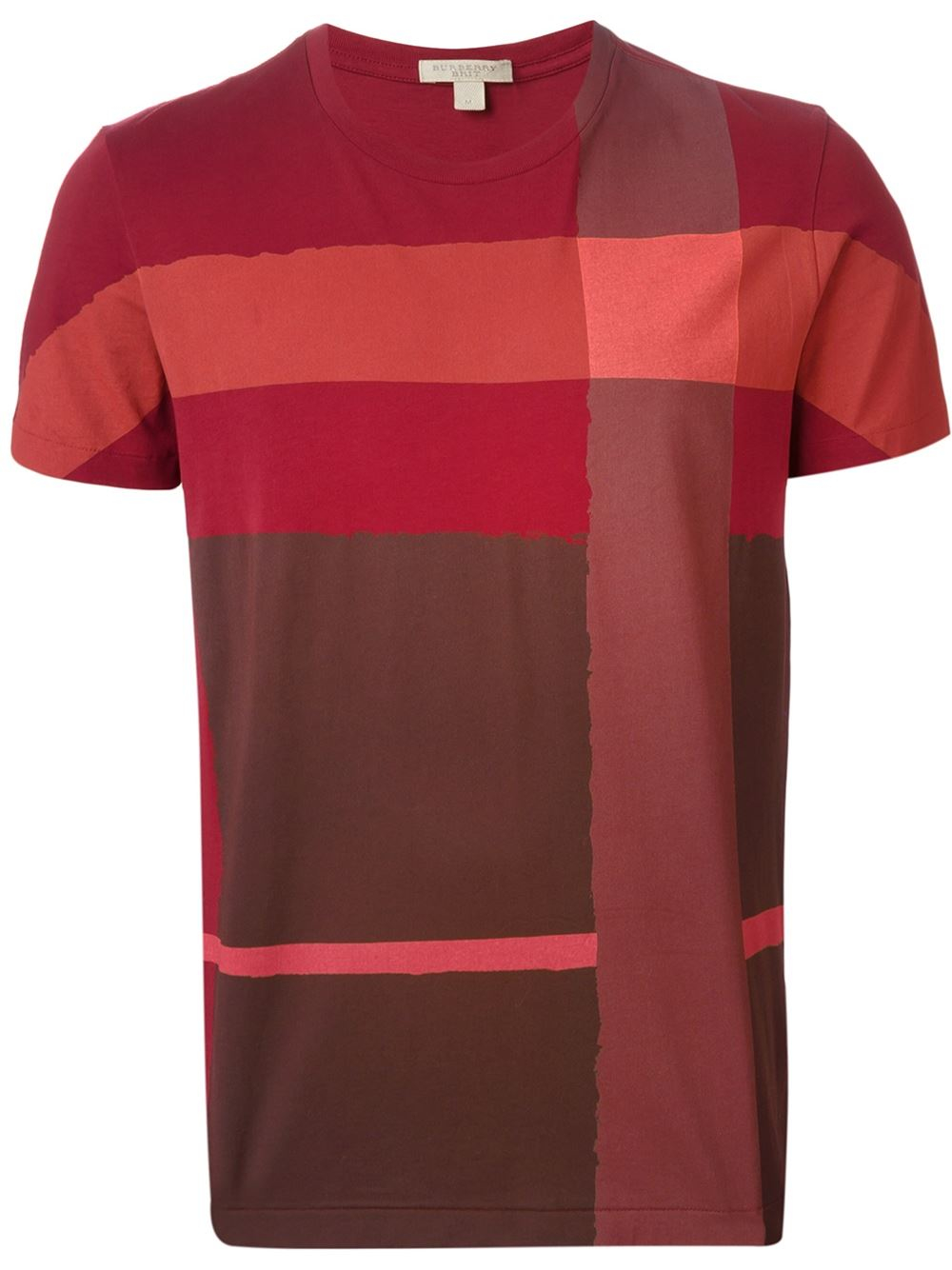burberry brit check print cotton t shirt in red for men lyst. Black Bedroom Furniture Sets. Home Design Ideas