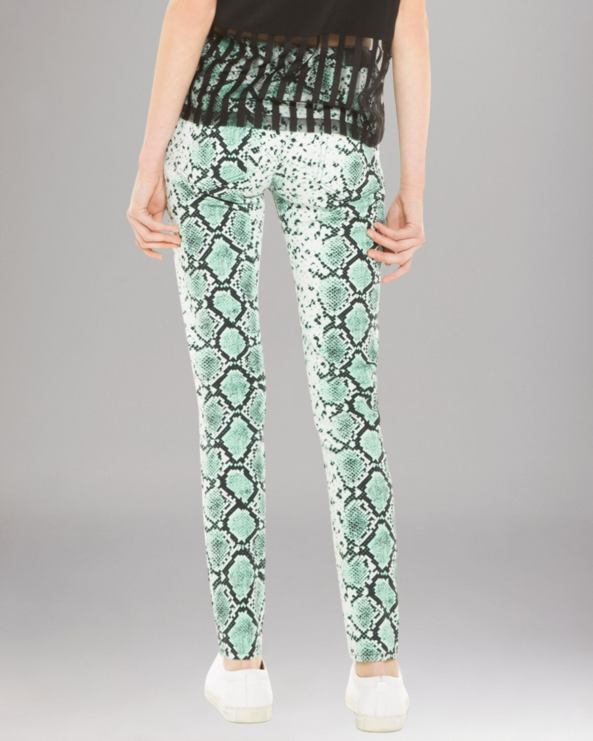 Sandro Jeans - Python Print In Green