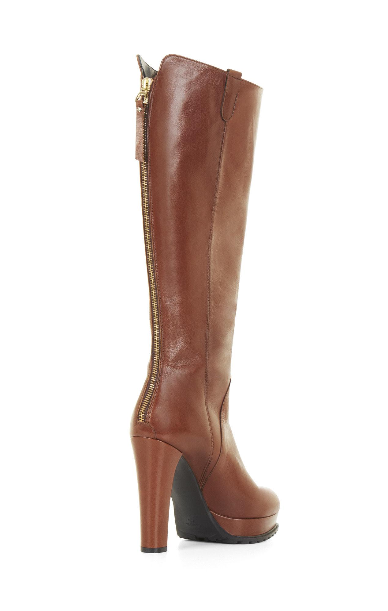 bcbgmaxazria kaelin high heel platform leather knee boots