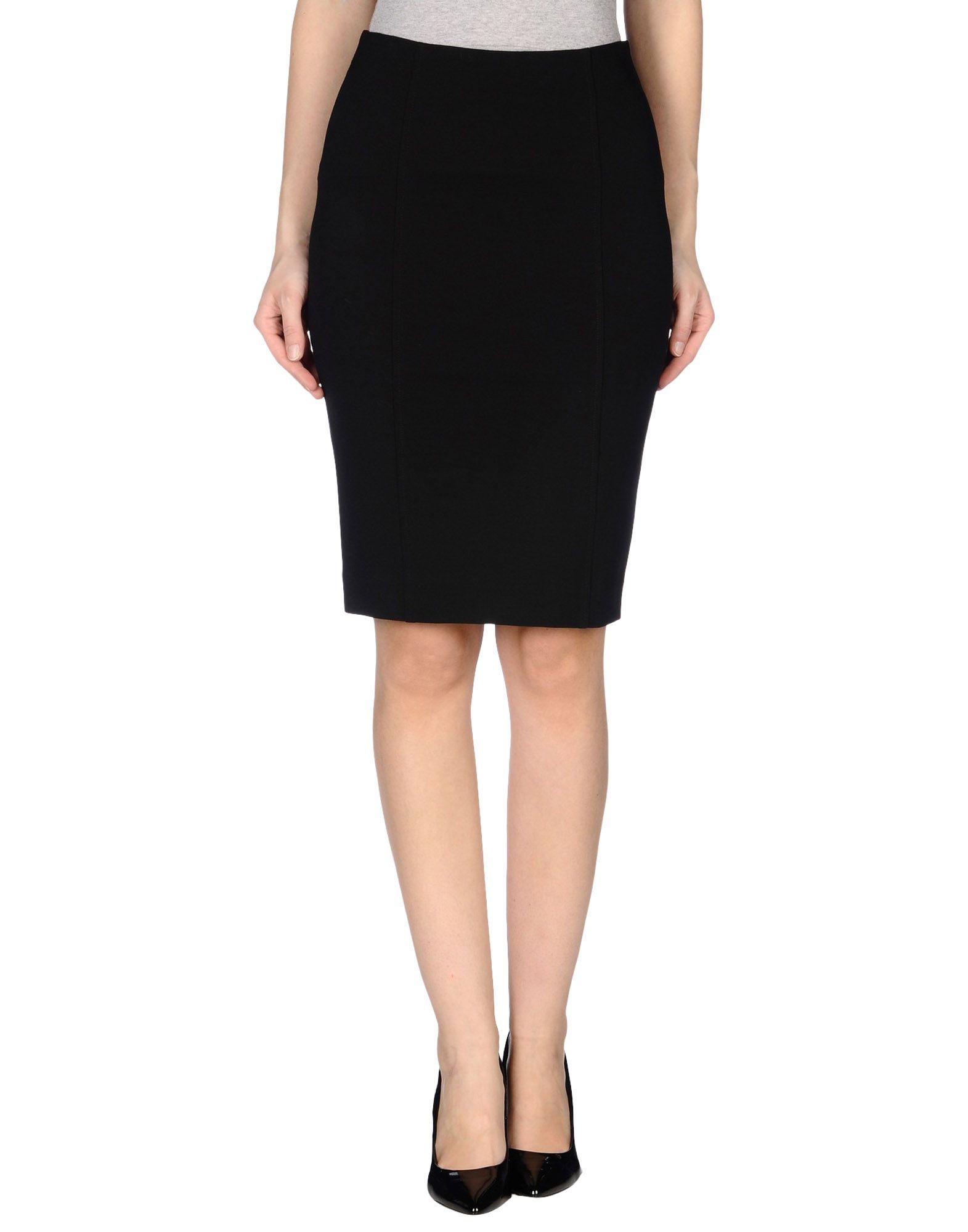 a biddikkia knee length skirt in black save 75 lyst