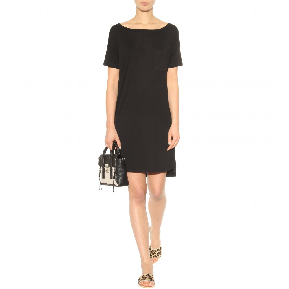 Lyst T By Alexander Wang Classic Jersey T Shirt Dress In Black